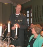 General Klas Eksell and Susan Truscott, IMTA chair, at the opening of the IMTA banquet, Karlberg Palace